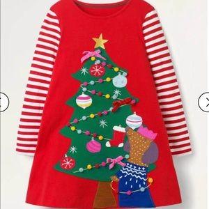 NWT mini boden Festive Big Appliqué Dress